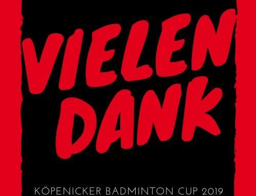 Platzierungen – Köpenicker Badminton Cup 2019